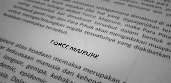 Force Majeure Dalam Kondisi Covid-19